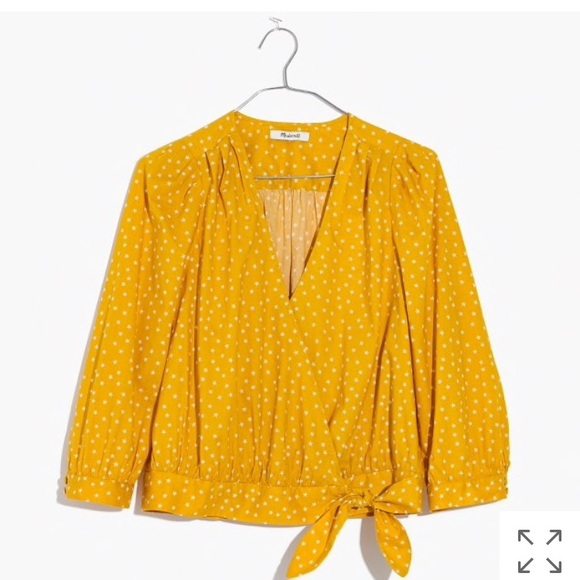 ad232645cb6ab NWT Madewell Wrap Top in Star Scatter